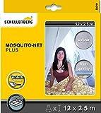 Schellenberg 50311 Moskitonetz Plus, 2.5 x 12 m, weiß/grau