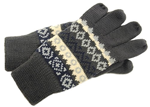 mens-grey-with-french-blue-cream-fair-isle-pattern-gloves-rjm-gl134