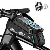 """ROCKBROS Borsa da Telaio Impermeabile per Bici MTB Borsa Telaio Anteriore Impermeabile Porta Cellulare 6.0"""" Design Estetico Grande capacità 1.5L"""