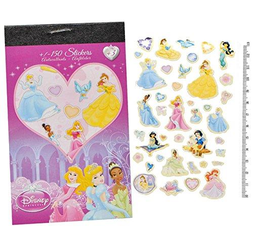 Unbekannt 150tlg. XL - Set Sticker / Aufkleber - für Mädchen - Disney Minnie Mouse Pooh Tinkerbell Princess bunt / z.B. für Stickeralbum Stickerblock - Stickerbuch -