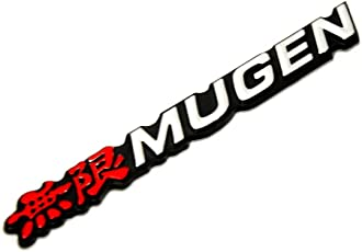Automaze Mugen Performance Emblem 3D Sticker for Honda (Red)