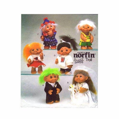 Butterick Schnittmuster 6439 Norfin Troll Puppe Kleidung Vintage