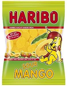 Haribo Sour Mango Fruchtgummi Mango - 1 x 175 g