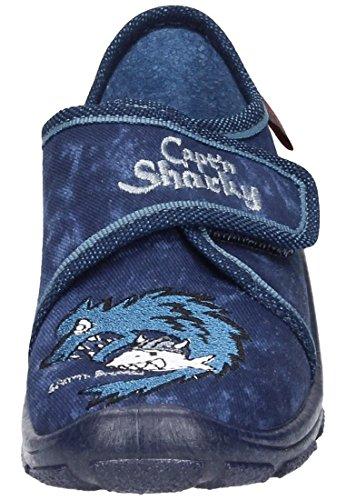 Capt´n Sharky Jungen Hausschuh Blau