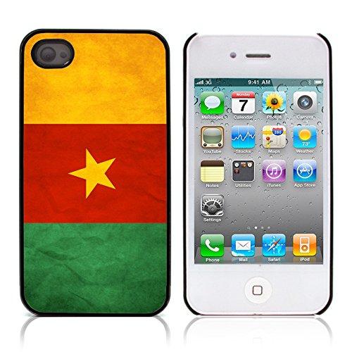 Graphic4You Vintage Uralt Flagge Von Senegal Senegalesisch Design Harte Hülle Case Tasche Schutzhülle für Apple iPhone 4 und 4S Kamerun Kameruner