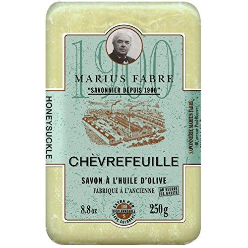 Marius Fabre Savon au Chèvrefeuille - Oliven-Seife mit GEISSBLATT parfümiert - 250 g -
