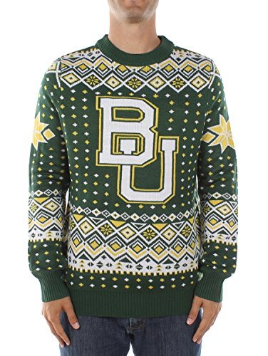 Tipsy Elves Herren Baylor University Pullover-Baylor Bears Ugly Weihnachten Pullover, Herren, Grün, Medium Baylor University Bears