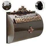 Cassetta delle lettere casella postale per lettera e posta antico ghisa di colore ossido parete