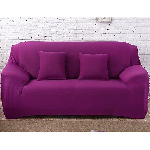 2 Sitzer Sofabezug Sofahusse Sesselbezug Sesselhusse Sofaüberwurf Elastisch Verfügbar In Verschiedenen Größen und Farben Lila -