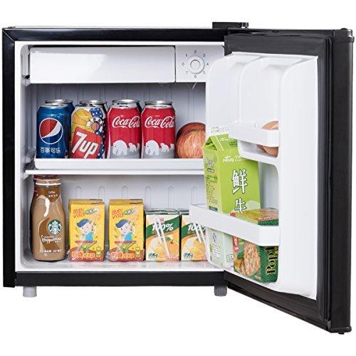 COSTWAY Mini Kühlschrank mit Gefrierfach Kühl-Gefrier-Kombination A+ 48L schwarz