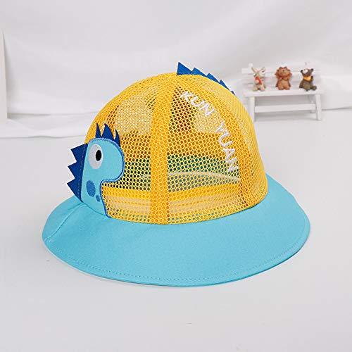 mlpnko Kinder Netz Hut Neue Becken Kappe Baby Hut Baby Visier Jungen und Mädchen Flut Version Fischer Hut gelb 50cm geeignet für 1-3 Jahre - Cowboy Kostüm Für 1 Jahr Alt
