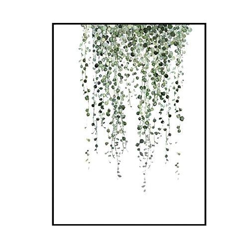 Wandbilder schlafzimmer Bloomma leinwand bild ohne Rahmen für zu Hause Moderne Dekoration Pflanzen Muster (A: 40 * 50cm)