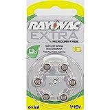 Rayovac Größe 10Quecksilberfrei Hörgerätebatterie–5Pakete von 6Zellen + Akku Caddy