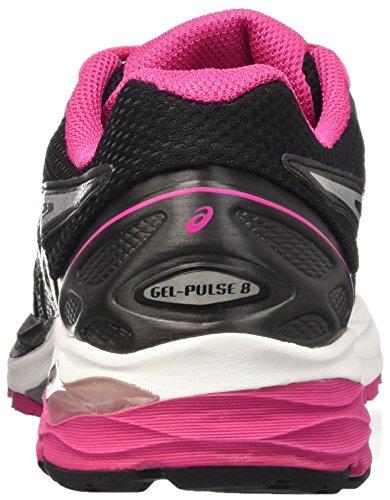 Asics Gel-Pulse 8 W, Scarpe da Corsa Donna Multicolore (Black/Silver/Sport Pink)
