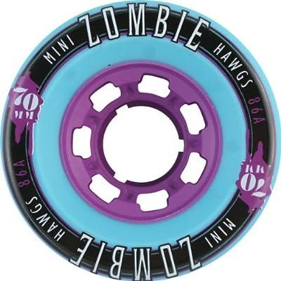 Hawgs Wheels Mini Zombie Teal Skateboard Wheels - 70mm 86a (Set of 4) by Hawgs Wheels