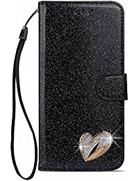 486e4f11525 Funda iPhone 6S Plus / Funda iPhone 6 Plus, Lujo Bling Glitter [Love  Diamond Design] [Cierre magnético] [Soporte] Funda…