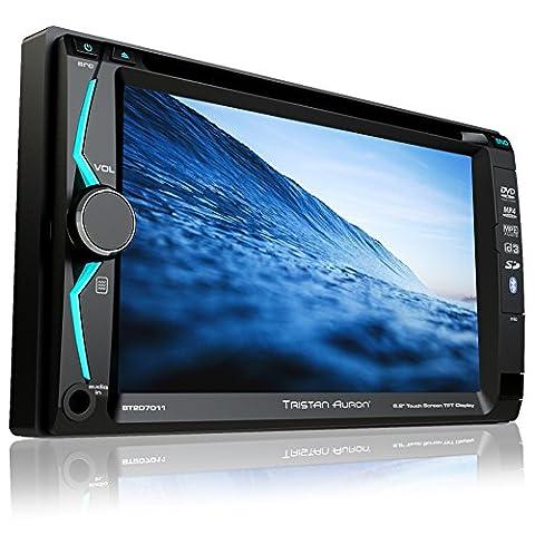 Tristan Auron BT2D7011 Autoradio | 6,2'' Touchscreen | Bluetooth Freisprechfunktion | SD/USB Slot | CD/DVD | 2