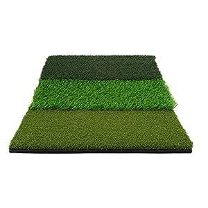 Cocoarm 25 x 16 Zoll Portable Golf Tri-Turf Putting Schlagen Angriff Praxis Trainingsmatte Golf Praxis Decke Rasen(Farbe…