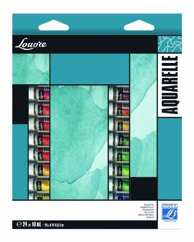 Lefranc & Bourgeois feine Wasserfarben ' Fine ', Aquarell Set - 24 Farben in 10ml Tuben