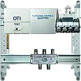 High-Tech 670101 Coffret de Communication 250 mm Tél/ADSL/TV Blanc