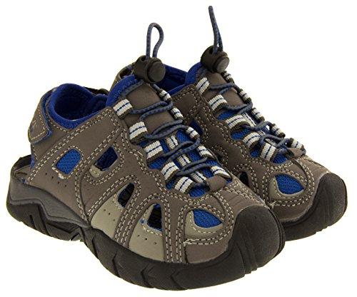 Gola unisexe enfant réglable en velcro marche et la randonnée sandales d'été gris et bleu