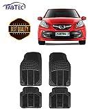 #7: Fabtec Car Foot Mat PVC Rubber Floor Mat (Black) (Set of 4) (Honda Brio)