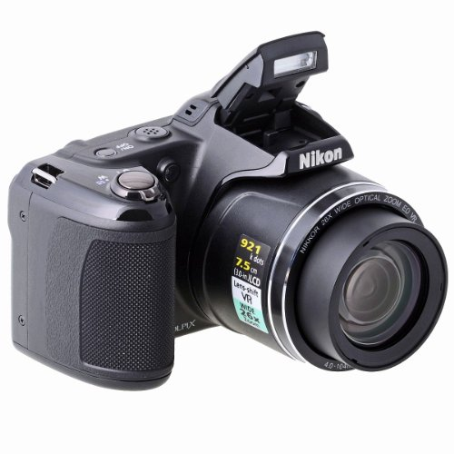 Nikon Coolpix L810 Digitalkamera (16 Megapixel, 26-Fach Opt. Zoom, 7,5 cm (3 Zoll) Display, bildstabilisiert) schwarz Nikon Digital-tv