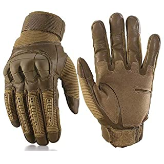 Men's Outdoor Sports Airsoft Smart Touchscreen Gloves for Motorcycle Cycling Racing Camping Hiking (Brown, X-Lagre)