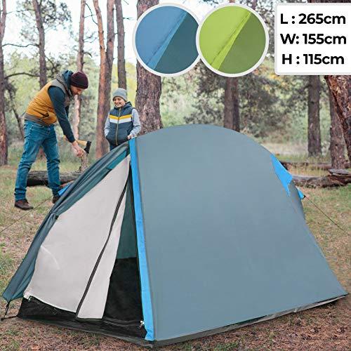 Campingzelt für 2 Personen   L/B/H: ca. 255/155/115 cm, wasserdichtes Außenzelt, UV-Schutz 50+, mit Tragetasche, Farbwahl   Tunnelzelt, Iglu-Zelt, Outdoor Zelt, Trekkingzelt, Hauszelt, Familienzelt