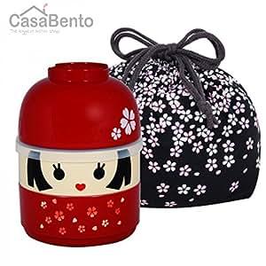 CasaBento - Hanako Kokeshi Bento Box & Sac