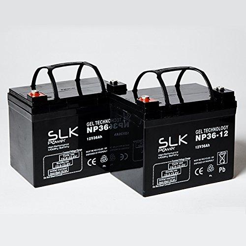 Gel-Batterien für Elektromobile, 12 V x 33 Ah 36 Ah 40 Ah 50 Ah 55 Ah 75 Ah, 2 Stück
