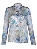 Damen Seidenbluse in interessantem Druckdessin by Alba Moda Green
