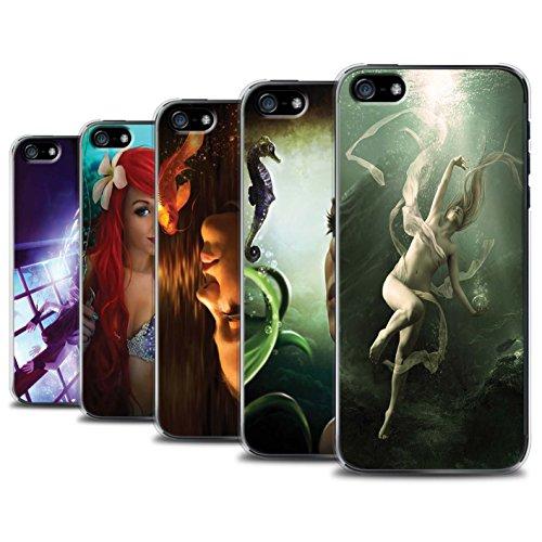 Officiel Elena Dudina Coque / Etui pour Apple iPhone 5/5S / Poissons d'Or Design / Agua de Vida Collection Pack 7pcs