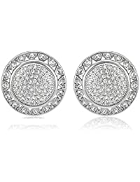 Shaze Silver Rhodium Plated Earrings for Women