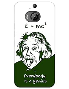 HTC Desire One M9+ Cases & Covers - Albert Einstein Case by myPhoneMate - Designer Printed Hard Matte Case - Protects from Scratch and Bumps & Drops.