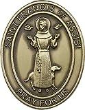 Antik Gold St. Francis von Assisi Visier Clip