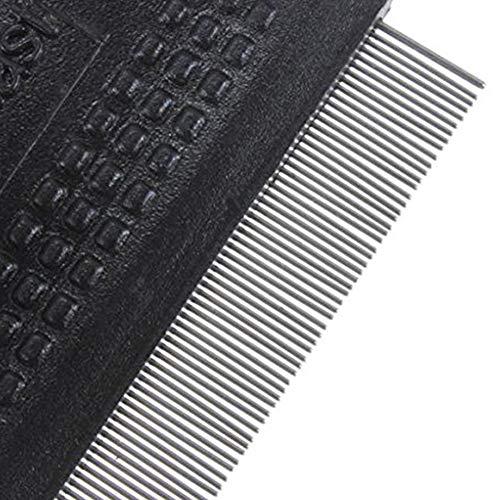 kamm, aus Metall, mit feinen Zähnen, zur Reinigung von Flöhen, Bürste, Haar-Werkzeug, zufällige Farbe ()