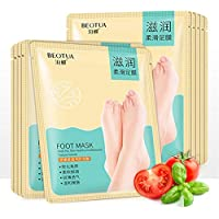 Colinsa 10Paar Fuß Peeling Maske,Hornhautsocke,Pflegende Bleaching Peeling Dead Skin Removal Fuß Maske für Samtweiche... preisvergleich bei billige-tabletten.eu