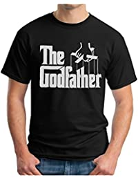 OM3 - THE GODFATHER - T-Shirt MAFIA Marlon Brando CHICAGO NEW YORK, S - 5XL, black