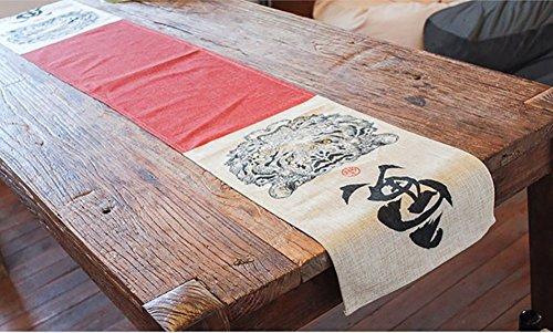 Chinesischen Stil Unterschrift Baumwolle Tischläufer verdicken kreative farbige Zeichnung 32 * 190cm