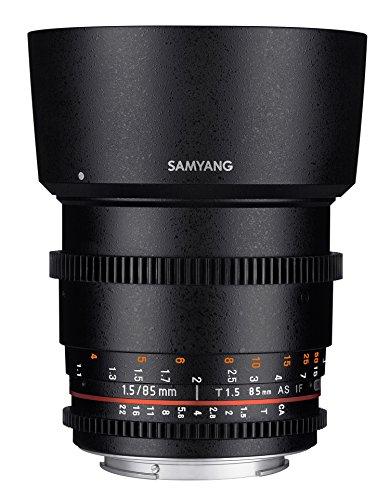 Samyang 7815 Obiettivo VDSLR II per Nikon DSLR Camera, 85mm, T1.5, Nero