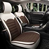 YE Autositzbezug Komplett-Set gemütlich Atmungsaktiv Leinen Stoff Für 5-sitziges Auto Das ganze Jahr über genutzt (Farbe : B)