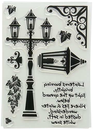 22.4 x 11.4 x 0.4 cm Synthetic Material Card-io Branching Out Clear Stamp Set