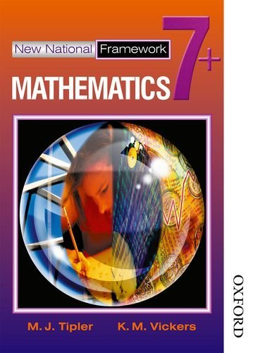 New National Framework Mathematics 7+: 7 Plus by Tipler, M J, Vickers, K M (August 7, 2002) Paperback