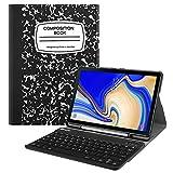 Fintie Tastatur Hülle für Samsung Galaxy Tab S4 T830 / T835 (10.5 Zoll) 2018 Tablet-PC - Ultradünn Schutzhülle mit magnetisch Abnehmbarer drahtloser Deutscher Bluetooth Tastatur, Notizblock