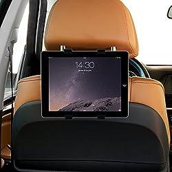 """Soporte tablet coche de calidad y sin vibraciones, soporte tablet ajustable al reposacabezas del coche para tablets de 7"""" a 10"""", ebooks, DVD, soporte para tablet en el coche regulable 360º"""