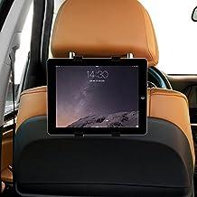 Soporte tablet coche seguro, soporte tablet ajustable al reposacabezas del coche para tablets de 8