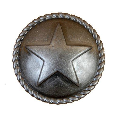 Set von 24Star mit Seil Schublade Schrank ziehen oder Knopf, Western Southwest Texas Décor Antik Old Silver (Star Schublade Ziehen)