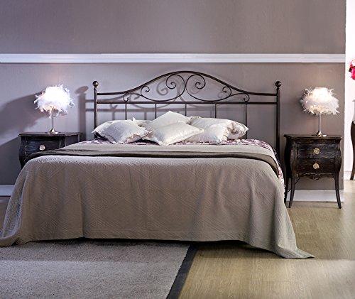 Cama de Hierro forjado Cosatto matrimonio Giusy (cabecero cama y Red)