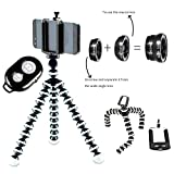 #10: Gorilla Tripod /Flexible Tripod 10INCH For Phone/DSLR Camera With Universal Phone Holder ,Universal Mobile Lens Kit & Bluetooth Remote By BURGEON.